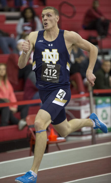 Senior Chris Giesting broke his second school record in as many weeks, taking down a 21-year-old record in the 200 meters with a time of 21.02. The previous mark of 21.11 was set by Randy Kinder in 1994.