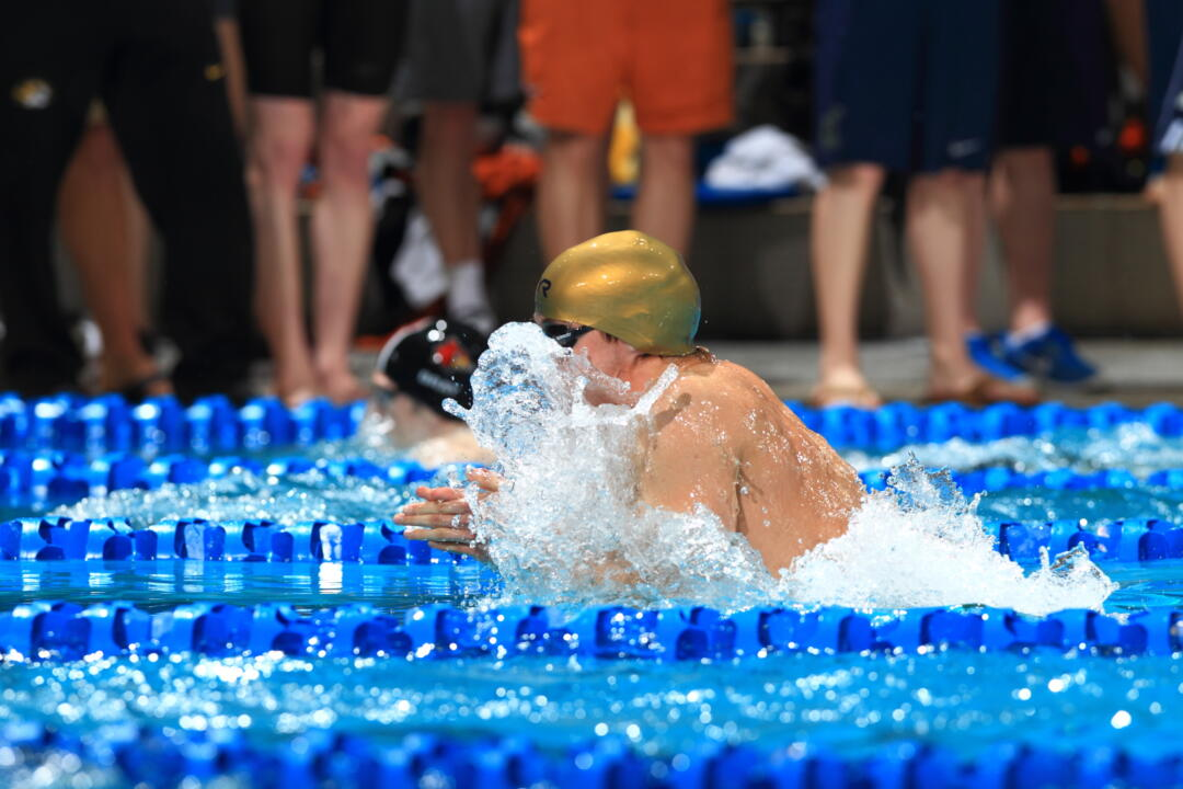 Senior IM-er Zach Stephens had the top finish Thursday with his 10th-place swim in the 200 IM.