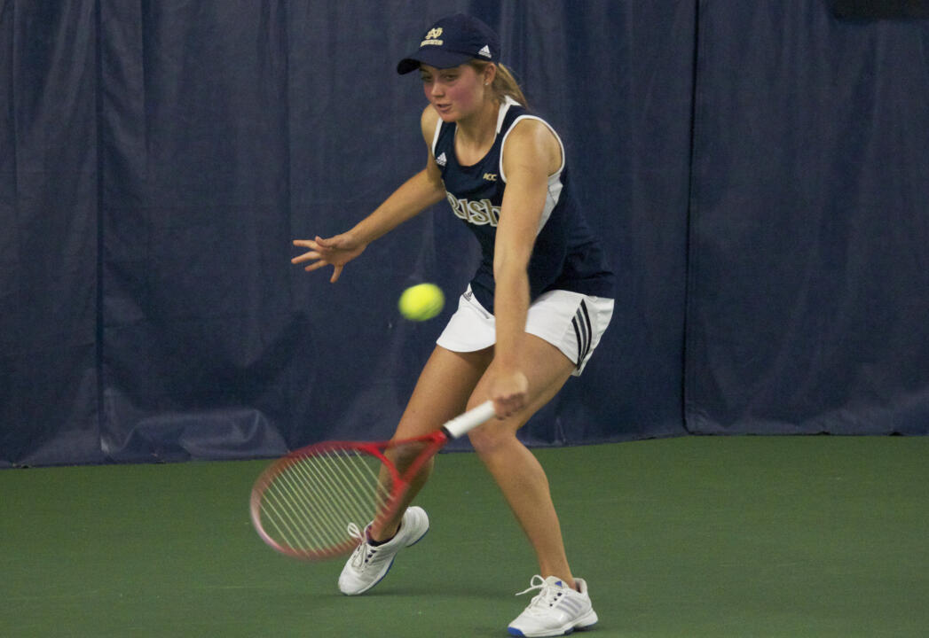 Mary Closs scored Notre Dame's lone singles point over Stanford with a 6-2, 7-5 win over Krista Hardebeck.