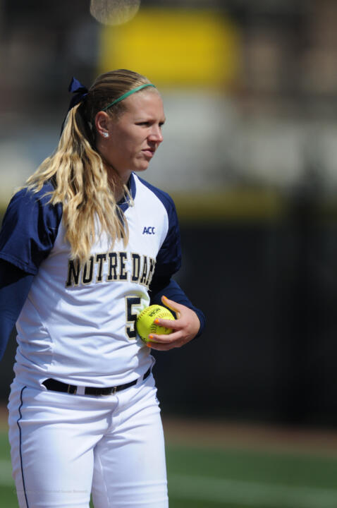 Junior pitcher Allie Rhodes made a career-high 22 appearances (18 starts) in the circle for Notre Dame in 2014