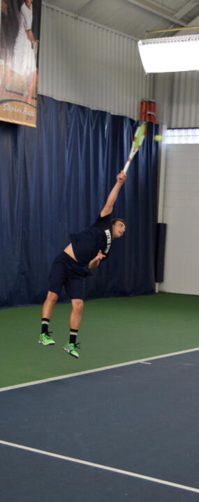 Sophomore Eddy Covalschi and the Irish welcome Ball State and Wisconsin to the Eck Tennis Pavilion on Sunday.