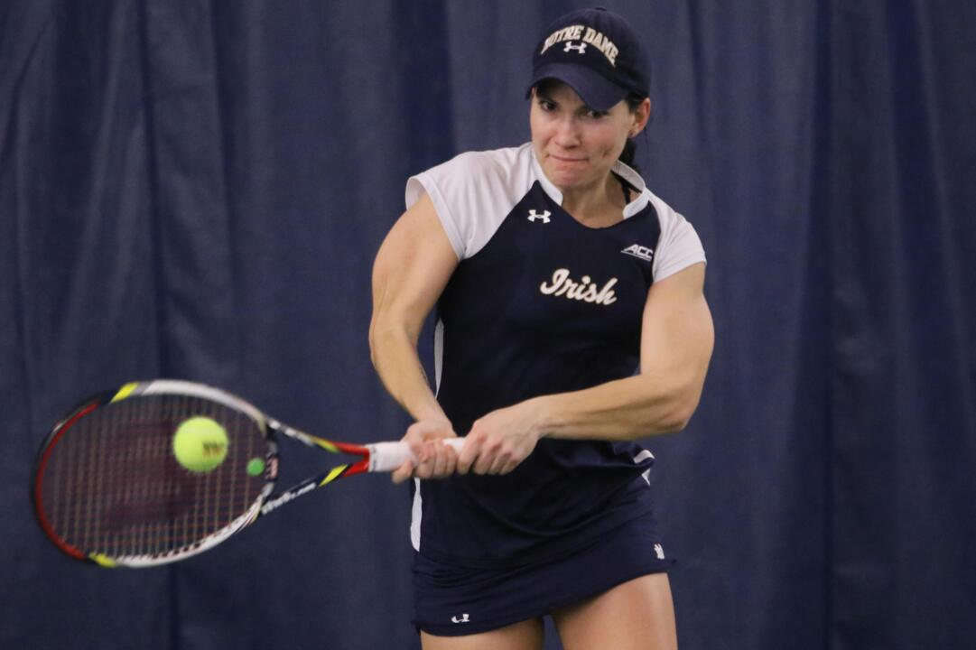 Freshman Allie Miller and the Irish will take on two ranked opponents this weekend in No. 8 Stanford and No. 31 Ohio State at the Eck Tennis Pavilion.