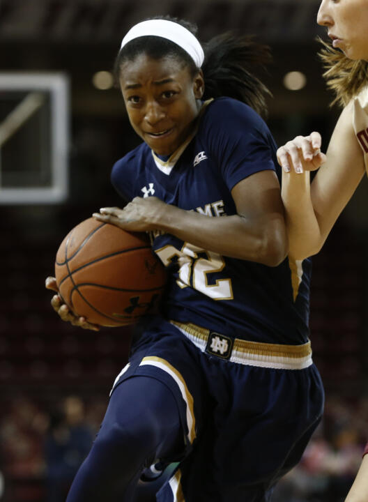 Junior All-America guard (and National Player of the Year candidate) Jewell Loyd and the Notre Dame women's basketball team currently sit atop the ACC standings with a 12-1 record (25-2 overall).