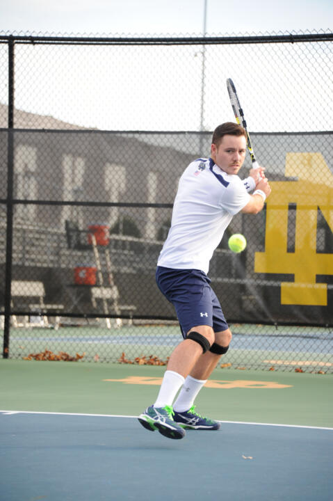 After battling injuries and seeing his time in the lineup wax and wane, senior Billy Pecor has emerged as the emotional leader for an Irish men's tennis team eying postseason success.