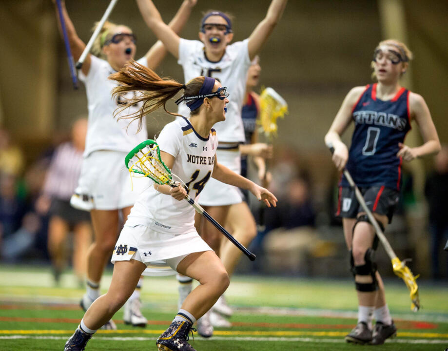 Heidi Annaheim had three goals and two assists to help Notre Dame past Cal.