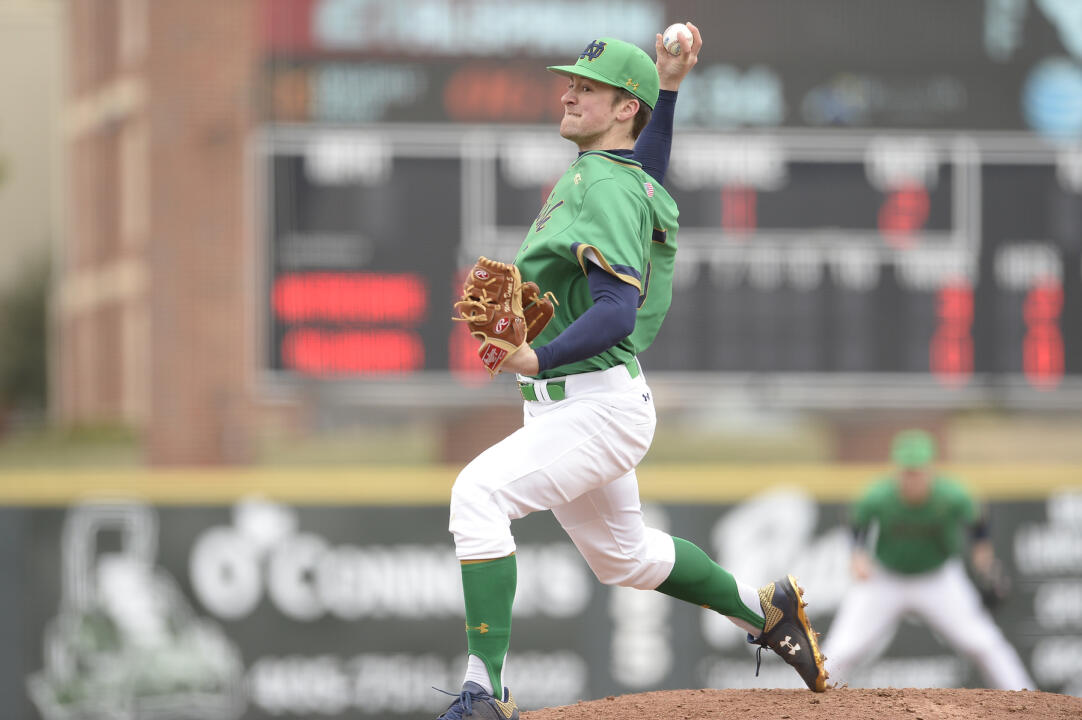 Junior Nick McCarty boasts a 2-0 record as the third starter for the Irish.