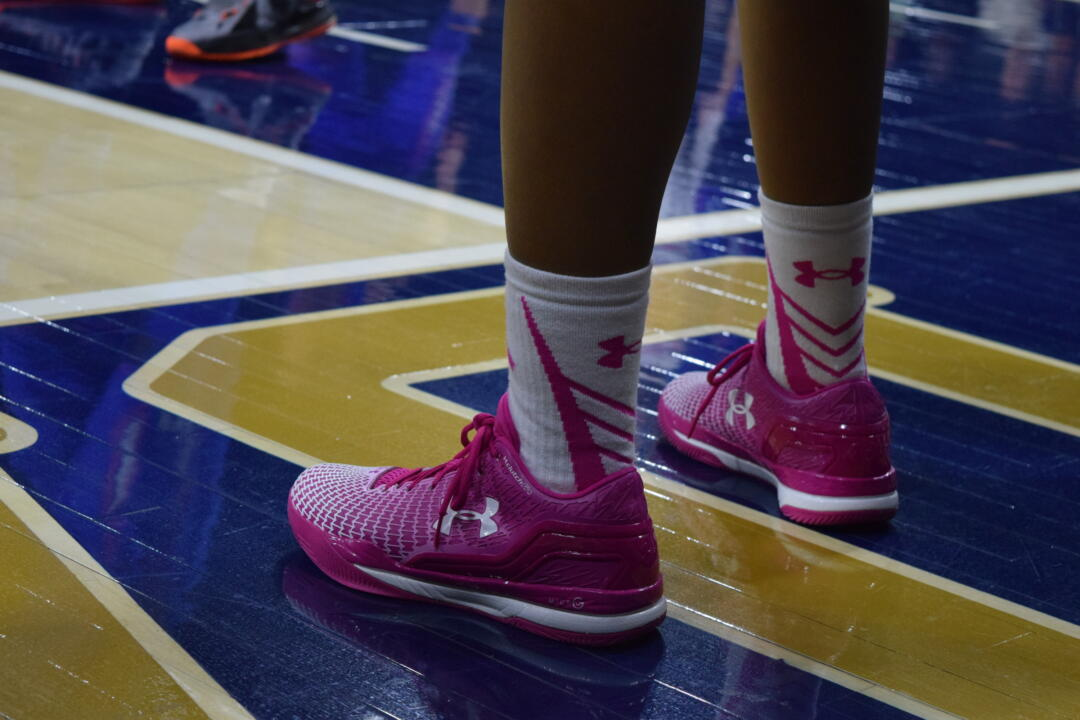 The Notre Dame women's basketball program is expanding its Pink Zone efforts this year, with merchandise and donation buckets on hand for Monday's game against No. 8/7 Louisville at Purcell Pavilion (7 p.m. ET on ESPN2).