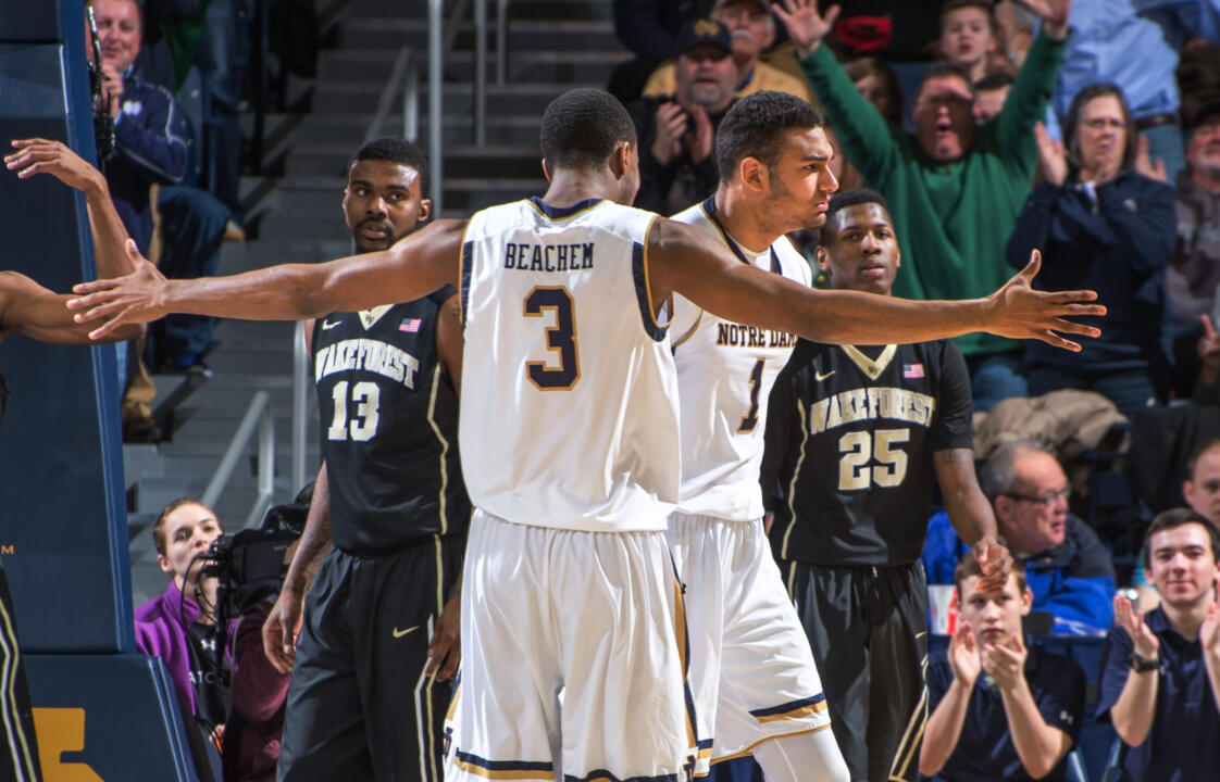 Austin Torres provided an offensive and defensive spark for the Irish on Tuesday night as he scored five points, grabbed six rebounds and made two steals in 13 minutes off the bench.