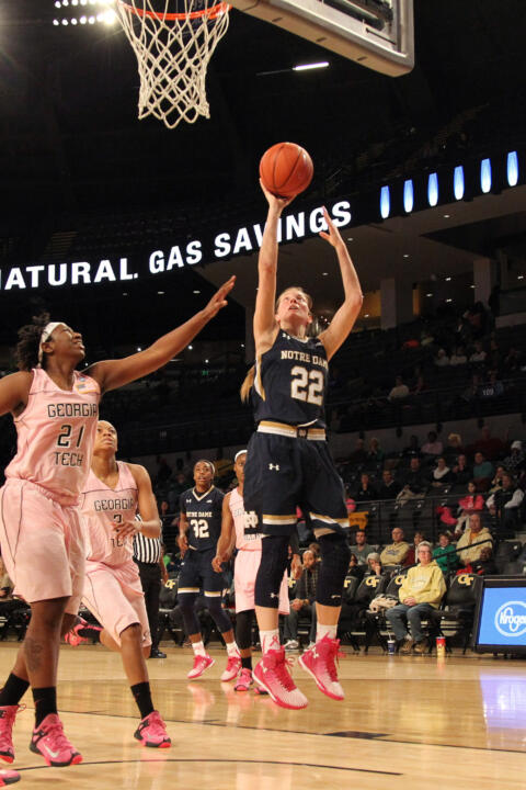 Senior guard Madison Cable had 10 points and a game-high seven rebounds in Notre Dame's most recent game against North Carolina State, an 83-48 victory in last year's ACC Tournament semifinals.