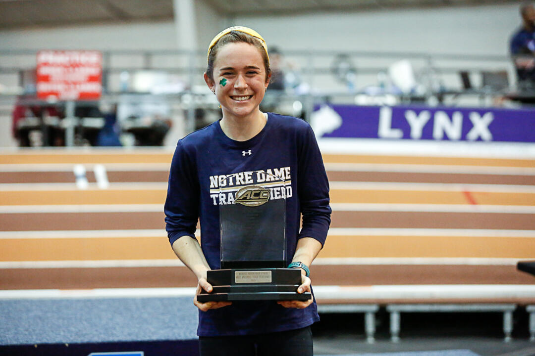Molly Seidel earned the women's Most Valuable Track Performer award at the ACC Indoor Track and Field Championships on Saturday.
