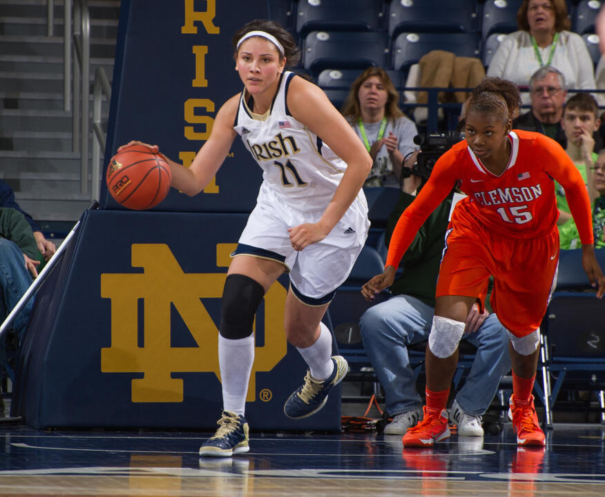Natalie Achonwa ('14), a two-time All-America forward at Notre Dame and tri-captain on last year's ACC title-winning team and NCAA finalist squad, will be honored as the Fighting Irish representative in the 2015 ACC Women's Basketball Legends Class on Saturday in Greensboro, North Carolina.
