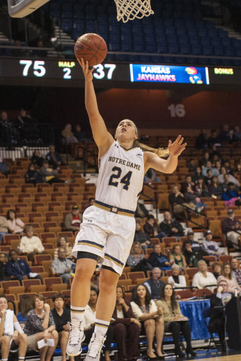 Junior guard Hannah Huffman played a key role off the bench in Friday's win over Stanford, coming up with four points, five rebounds, three assists, a block and a steal in 20 minutes.