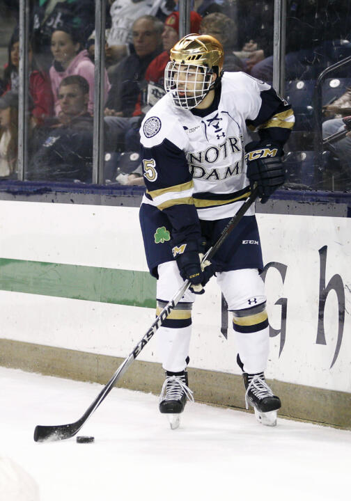Robbie Russo assisted on all three Notre Dame goals.