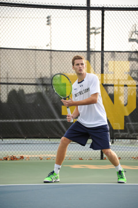 Quentin Monaghan has been a steady leader atop the Irish singles lineup this season, amassing an 8-2 dual match record.