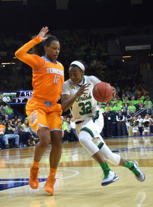 Junior guard Jewell Loyd (pictured) and freshman forward Brianna Turner earned first-team All-ACC honors on Tuesday, with Turner also copping All-ACC Freshman Team accolades, according to the ACC's Blue Ribbon Panel.