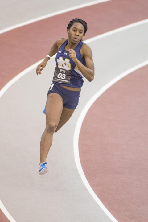 Junior Margaret Bamgbose will compete in the 400 meter finals on Saturday at the NCAA Indoor Championships.