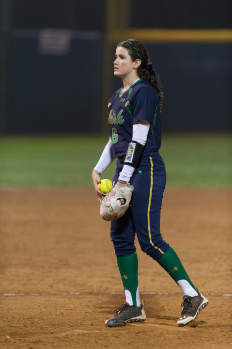 Sophomore Rachel Nasland claimed her fourth straight win with a one-hit shutout of Georgia Tech on Sunday