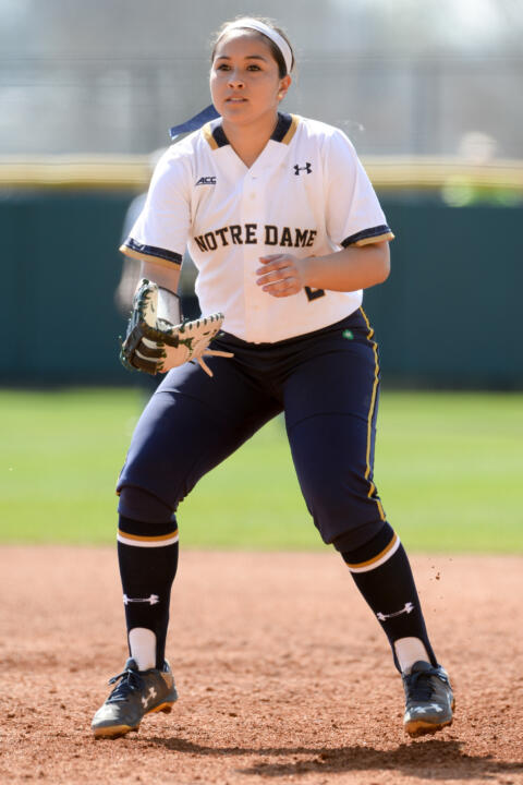 Junior All-American Micaela Arizmendi leads all Notre Dame softball players with 23 RBI this season