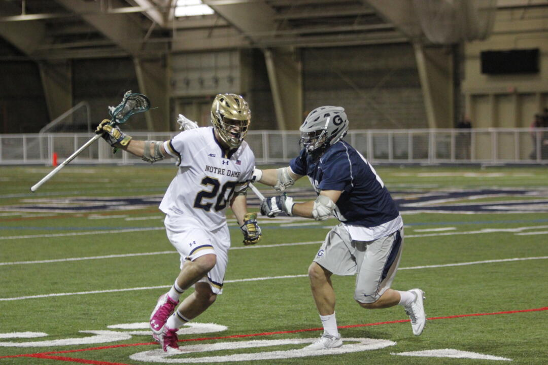 In addition to being valuable in face-offs, Nick Ossello has three goals and two assists this season.