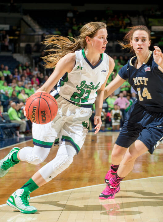 Senior guard Madison Cable collected 13 points and eight rebounds in Notre Dame's NCAA first-round win over Robert Morris last year.