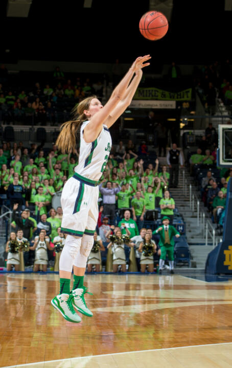 Senior guard Madison Cable drilled three three-pointers in a span of 1:19 early in the second half, helping propel Notre Dame past North Carolina State, 67-60 in Sunday afternoon at Reynolds Coliseum in Raleigh, North Carolina.