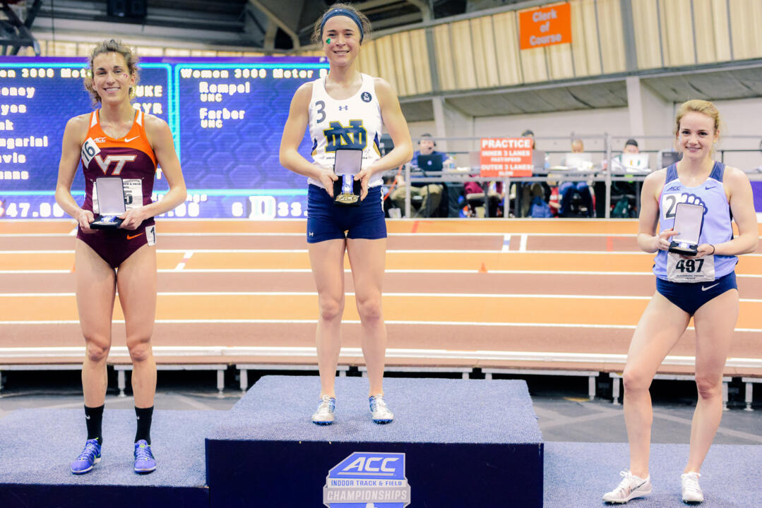 Junior Molly Seidel won a pair of ACC indoor championships in the 5,000 and 3,000 meters this season, garnering her Most Valuable Track Performer honors at the meet.