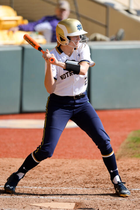 Freshman Sara White blasted her first career home run in Notre Dame's 9-0 win over IPFW on Wednesday night