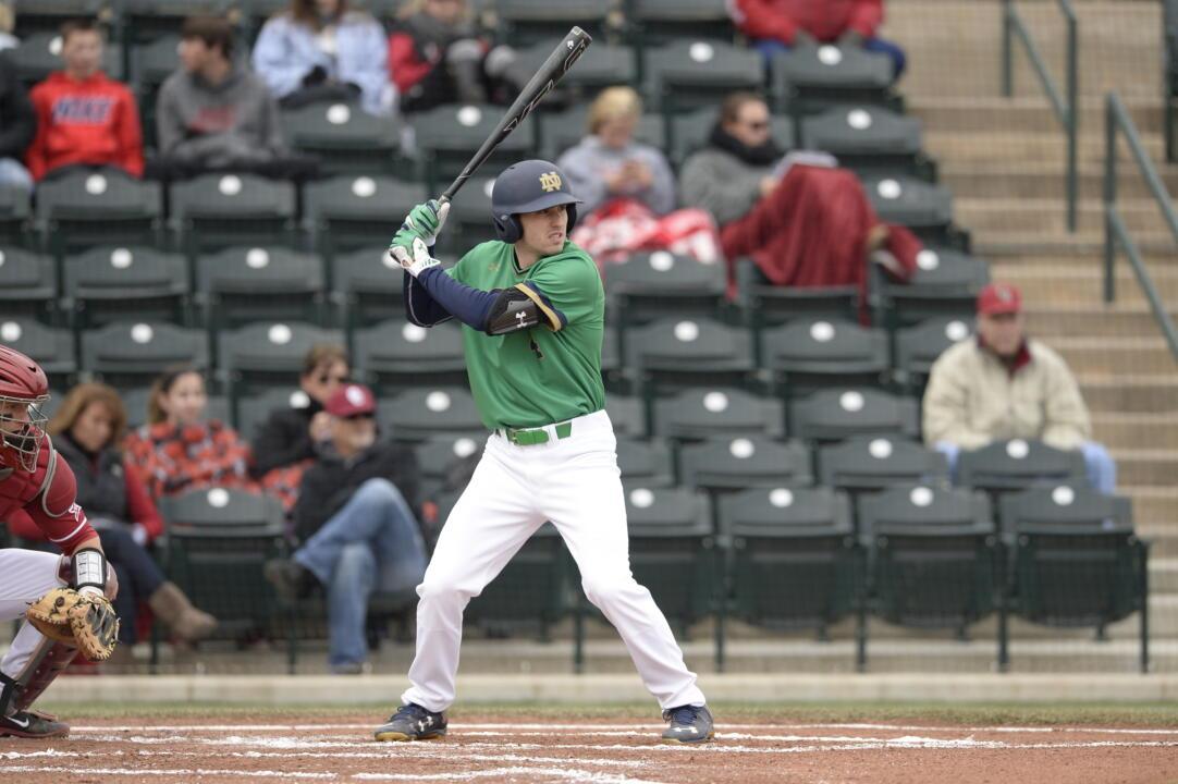 Junior Lane Richards had two critical RBI in Notre Dame's 5-1 win at Clemson Sunday to clinch the series win.