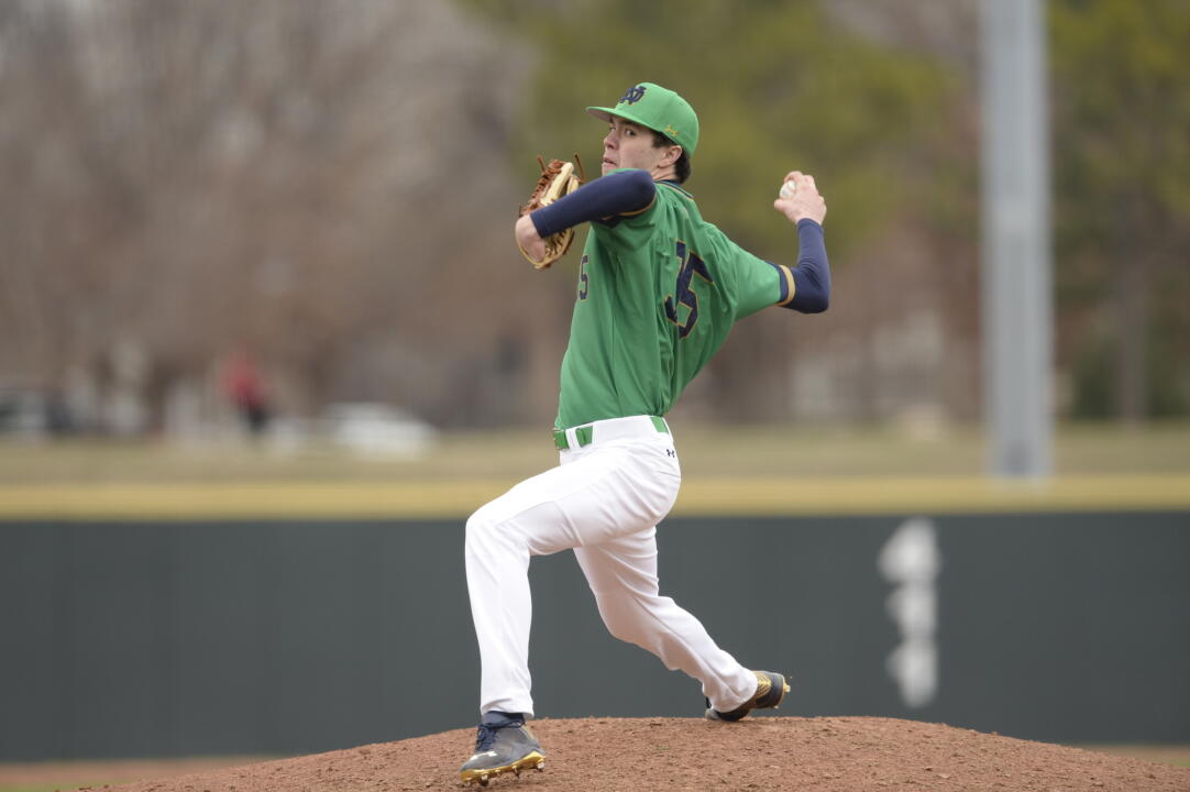 Freshman pitcher Peter Solomon went seven innings in relief and hurled 98 pitches in a 6-4 Irish loss in 18 innings to No. 8 Louisville.