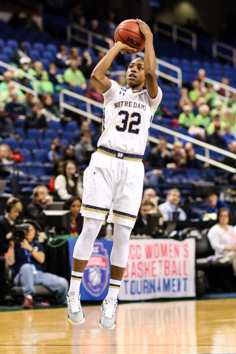 Notre Dame junior guard Jewell Loyd was named one of 12 finalists for the 2015 WBCA Wade Trophy, it was announced Thursday.