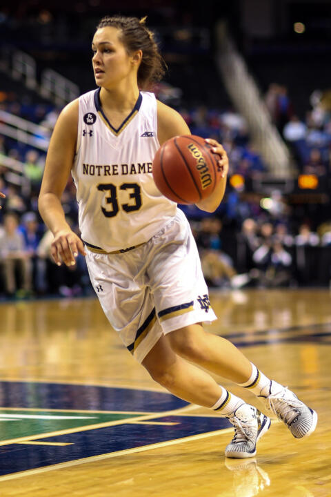 Freshman forward Kathryn Westbeld made the most of her NCAA postseason debut on Friday night, collecting eight points, a game-high 10 rebounds and a career-best four steals in a 77-43 first-round win over Montana at Purcell Pavilion.
