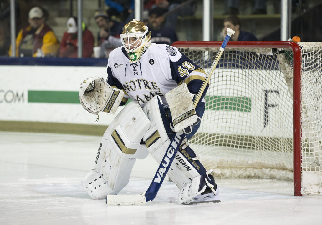 Cal Petersen leads the nation in saves, save percentage and minutes played since Feb. 6.