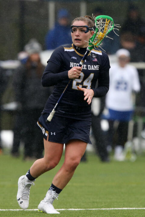 Casey Pearsall scored the first of Notre Dame's five goals at Stony Brook.