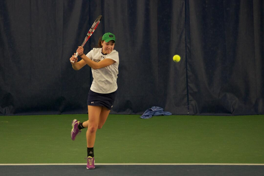 Junior Quinn Gleason sealed the win for the Irish with a 2-6, 7-5, 7-6(6) win over No. 71 Jessica Wacnik at No. 1 singles.