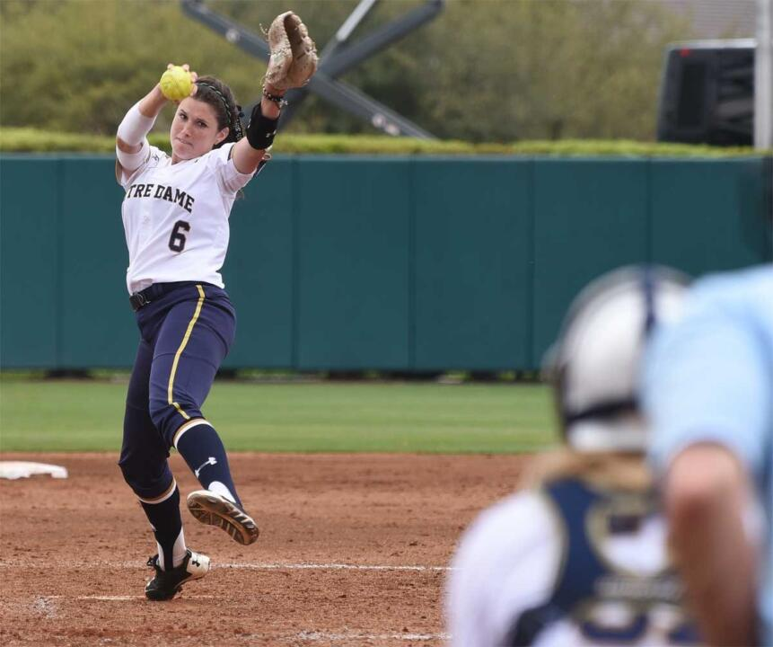 Three strong outings from Rachel Nasland, including a no-hitter against No. 9/10 Florida State on Sunday, earned the Notre Dame sophomore her second ACC Pitcher of the Week citation of the season on Monday
