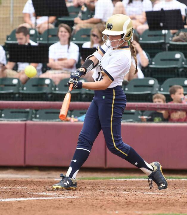 Freshman Bailey Bigler logged her first career collegiate hit, a two-run pinch-hit single, to key a five-run Notre Dame fifth inning in Wednesday's win over Cleveland State