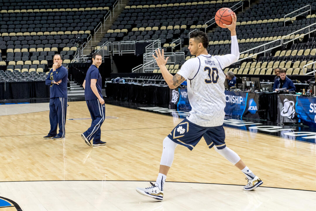 Zach Auguste at Friday's practice
