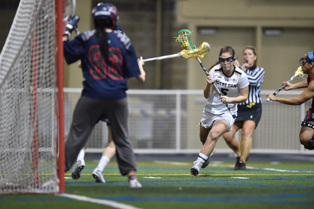 Rachel Sexton scored a career-high-tying five goals on Wednesday at Marquette.