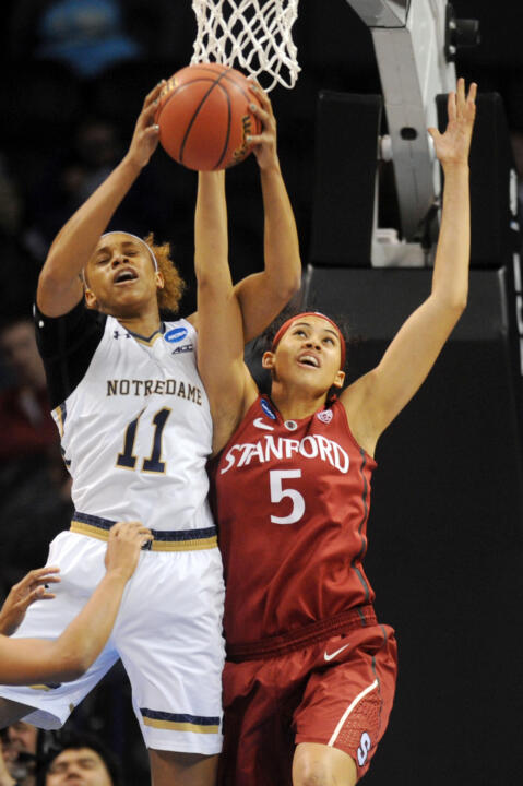In her first three NCAA Championship games, freshman forward Brianna Turner is averaging 12.7 points and a team-high 7.3 rebounds per game.