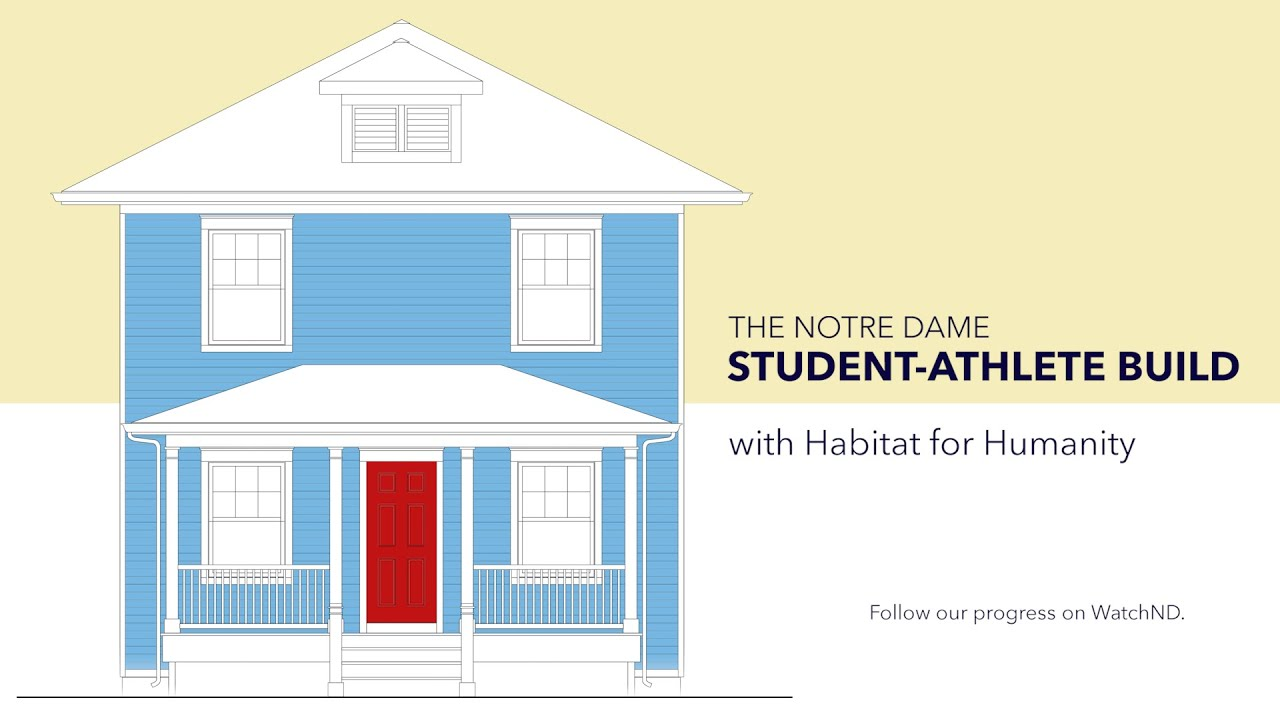 An Early House Tour - The Notre Dame Student-Athlete Build for Habitat for Humanity