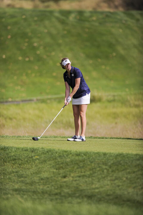 Junior Talia Campbell tied for sixth to wrap up competition at the Bryan National Collegiate on Sunday.