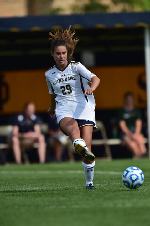 Freshman midfielder Taylor Klawunder scored a pair of goals to lead Notre Dame to a 4-1 win over the Mexico U-20 National Team last Friday at Alumni Stadium
