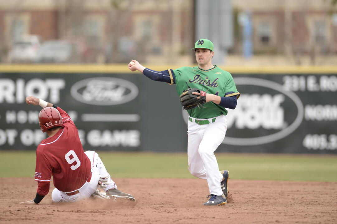 Junior Lane Richards has helped the Irish defense post a .976 fielding percentage in 2015.