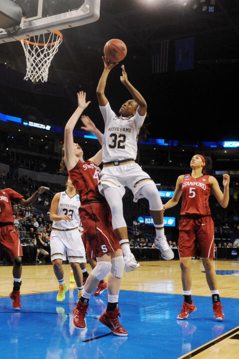 Junior guard Jewell Loyd earned a spot on the 2014 NCAA Women's Final Four All-Tournament Team after averaging 14.5 points and 7.5 rebounds during Notre Dame's two games in Nashville.
