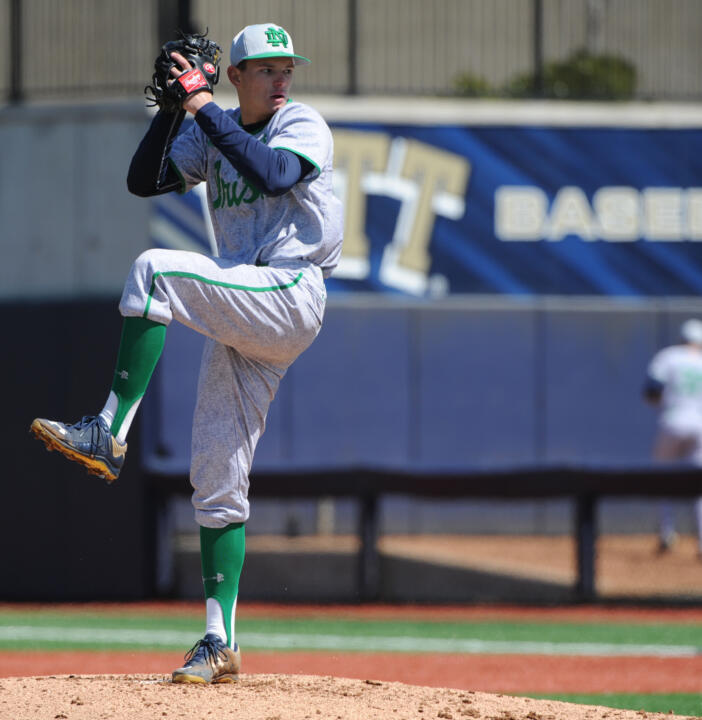 Freshman RHP and starter Brandon Bielak is one of six talented rookie arms for the Notre Dame baseball team.