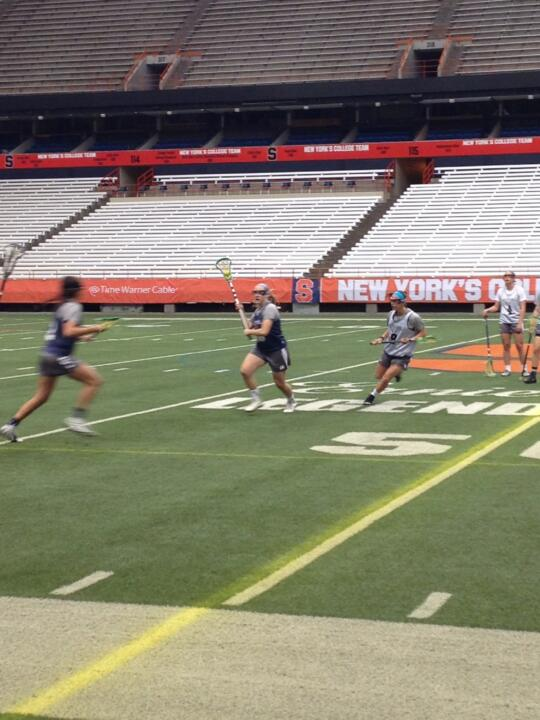 The Irish held a two-hour practice on Monday afternoon at the Carrier Dome