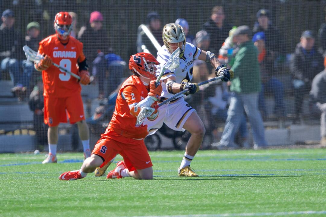 This will be the second No. 1 vs. No. 2 showdown at Arlotta Stadium in the last three weeks. No. 2 Notre Dame knocked off No. 1 Syracuse 13-12 in double-overtime on March 28.