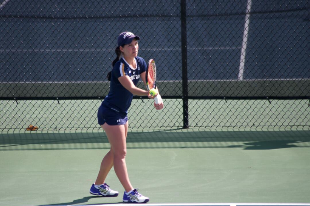 Freshman Allison Miller has had an immediate impact for the Irish in her rookie season, amassing a 10-3 singles record in ACC play, the best among Irish singles players.