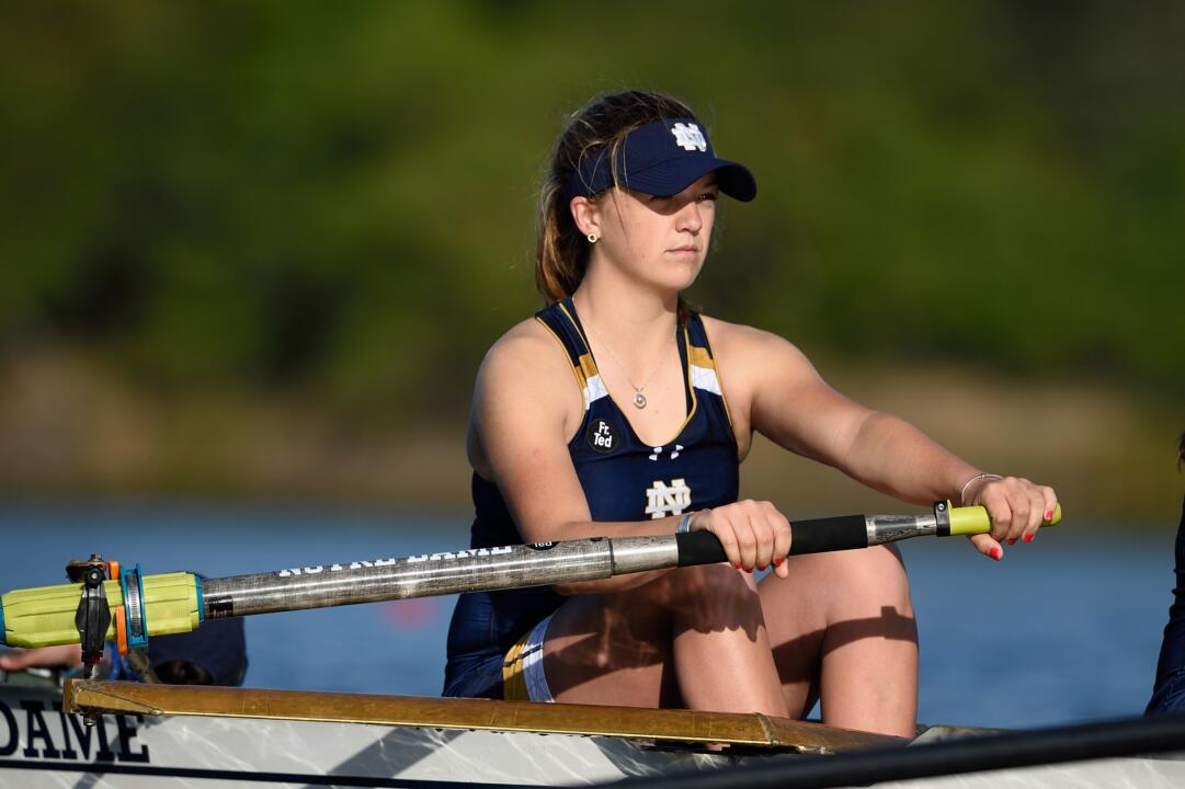 Notre Dame's first varsity four earned one of the four Irish wins on the opening day of the Dale England Cup on Friday