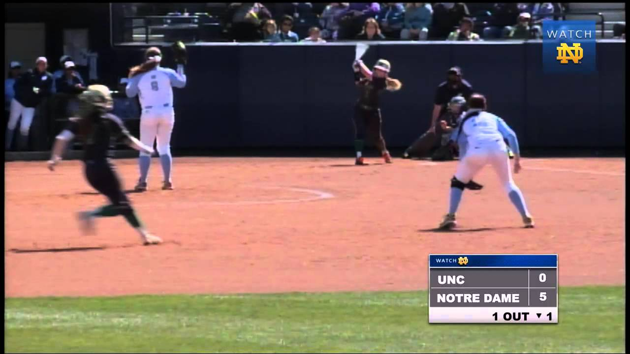 Notre Dame vs. North Carolina Softball Highlights